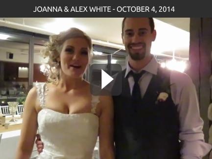 Joanna & Alex White, October 4, 2014