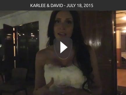 Karlee & David – July 18 2015