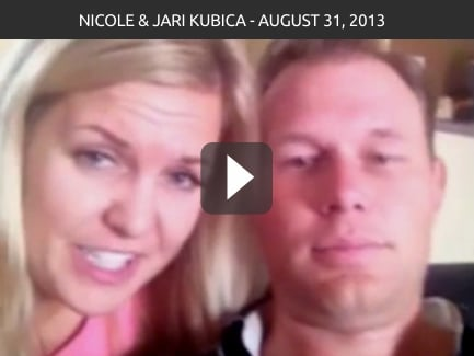 Nicole & Jari Kubica – August 31, 2013