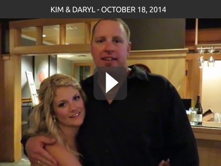 Kim & Daryl, October 18, 2014