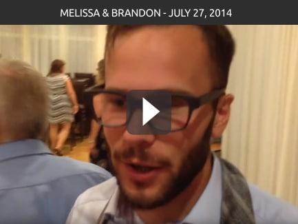 Melissa & Brandon – July 27, 2014